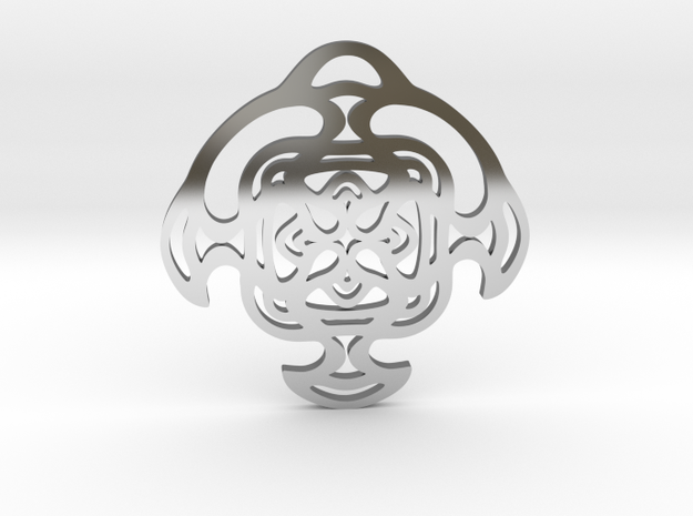 """""""Cradle"""" Pendant in Fine Detail Polished Silver"""