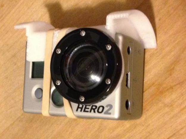 GoPro adjustable mount for arDrone 1  in White Natural Versatile Plastic