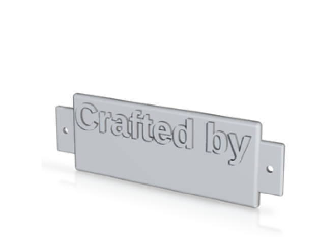 Name Plate A001 - Crafted by emboss in White Natural Versatile Plastic