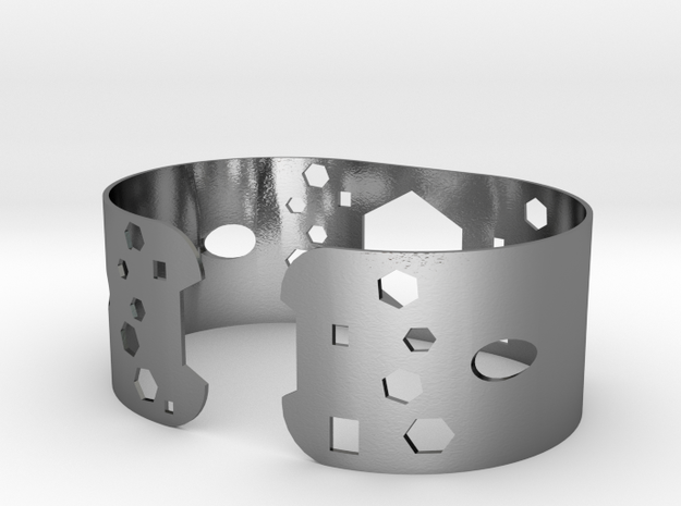 Geometric bracelet in Polished Silver