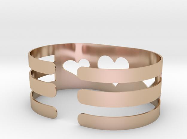 Valentine Heart 1in round bracelet