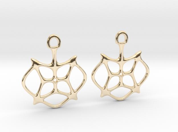 """""""Stars"""" Earrings in 14k Gold Plated Brass"""