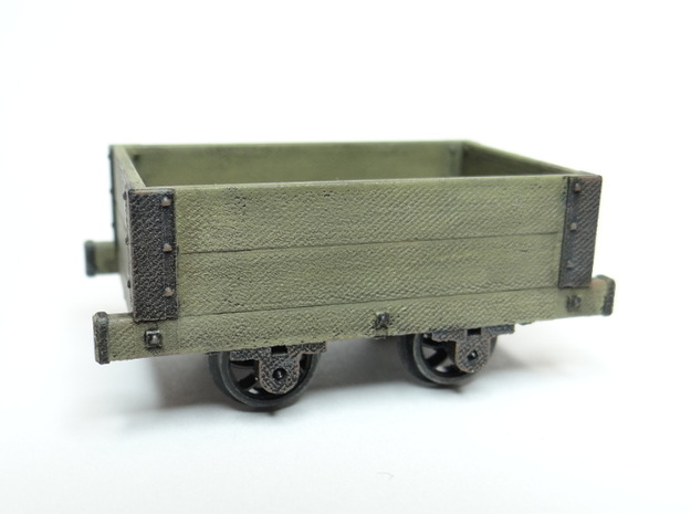 Aberllefenni Box Wagon in Smooth Fine Detail Plastic