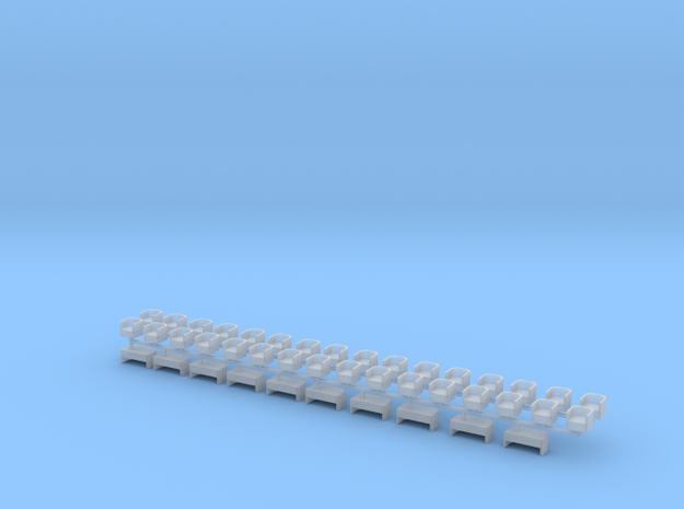 Lounge type Seats for Heavyweight Passenger Cars in Smoothest Fine Detail Plastic