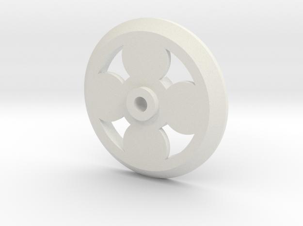 PCB Motor - 4-Pole 16mm Rotor in White Natural Versatile Plastic
