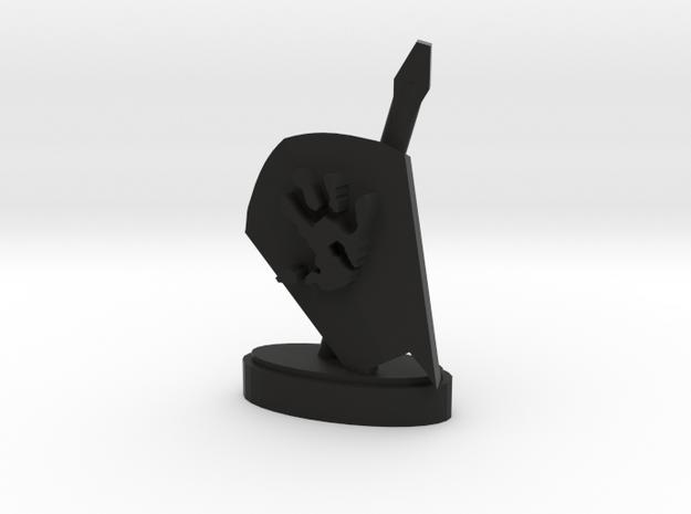 Playfigure Uruk-Hai Lance Shield in Black Natural Versatile Plastic