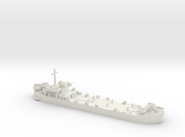 1/700 LST MkII Late 2x LCVP in White Strong & Flexible