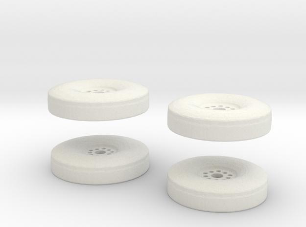 Detroit SteelWheel 19-21 inch inserts in White Natural Versatile Plastic