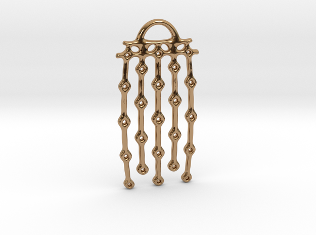 """From series """"Perforations"""" - variant II. Pendant in Polished Brass"""