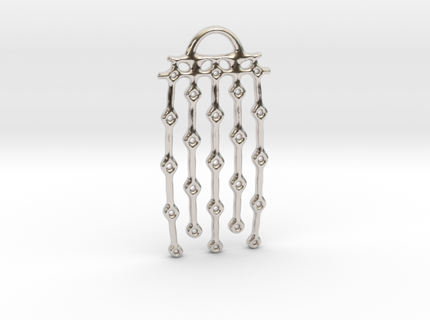 """From series """"Perforations"""" - variant II. Pendant in Rhodium Plated Brass"""