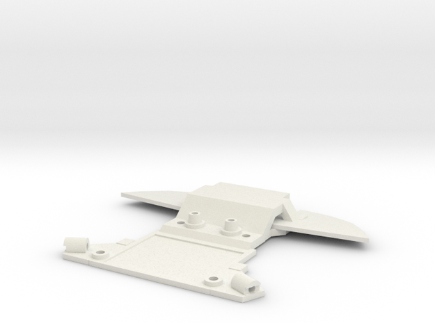 Subchassis V7 Mosler Front in White Natural Versatile Plastic
