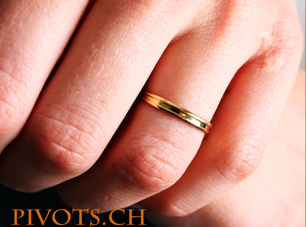 """4/5 Ring """"Victoire"""" in Polished Brass"""