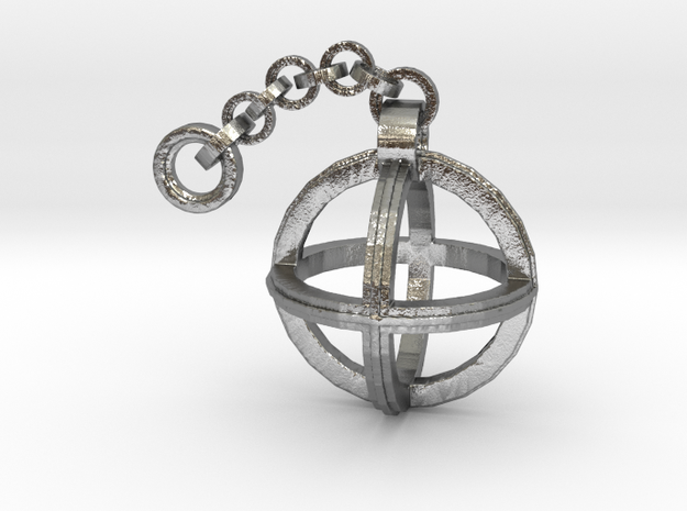 Orion's Pendant  in Natural Silver (Interlocking Parts)