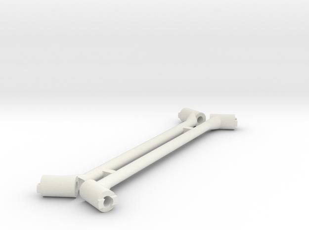 Thin Rails in White Natural Versatile Plastic
