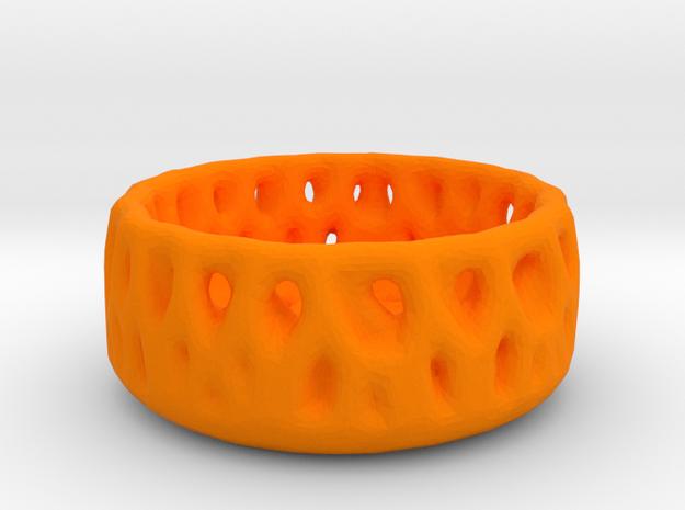 Fruitbowl in Orange Processed Versatile Plastic: Medium