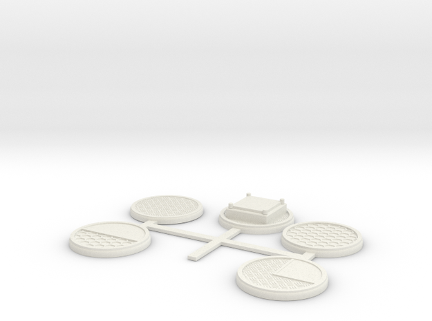 5 x 32MM Sci-Fi factory bases