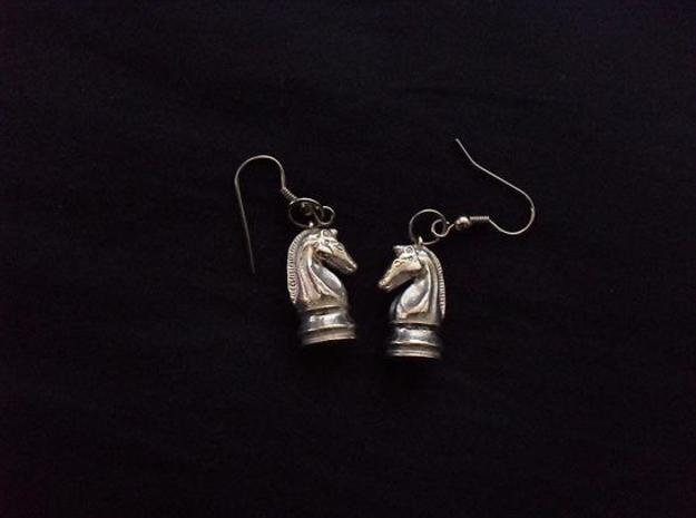 Chess Knight Earrings
