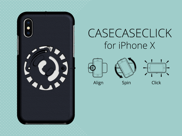for iPhone X : smooth : CASECASE CLICK in Black Natural Versatile Plastic