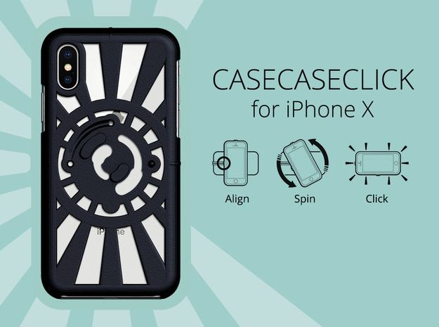 for iPhone X : redial : CASECASE CLICK in Black Natural Versatile Plastic