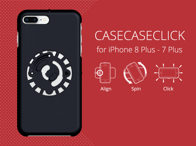 for iPhone 8Plus - 7Plus : smooth : CASECASE CLICK in Black Natural Versatile Plastic