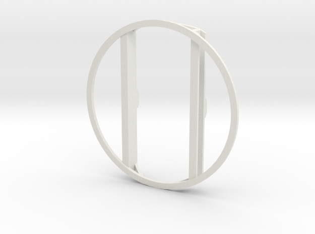 L&Y Bogie top ring in White Natural Versatile Plastic