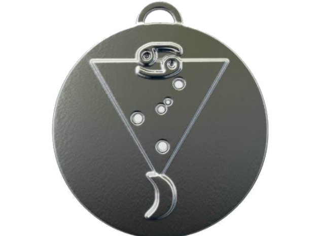 Cancer talisman in Fine Detail Polished Silver