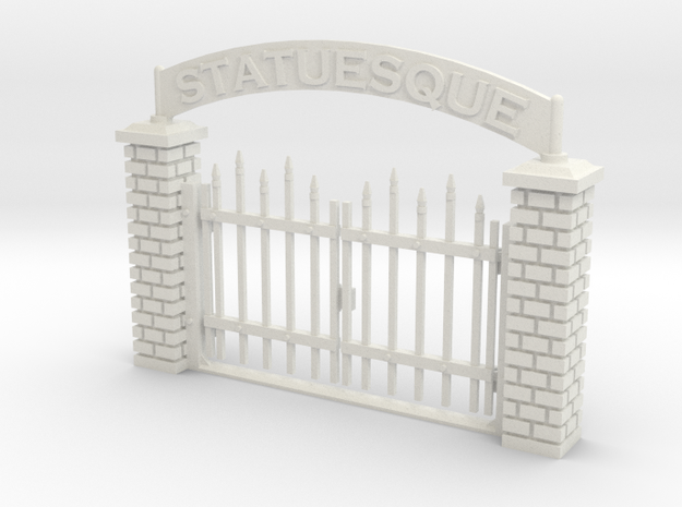 Large Spiked Gate 28mm -- Pulp Alle in White Natural Versatile Plastic