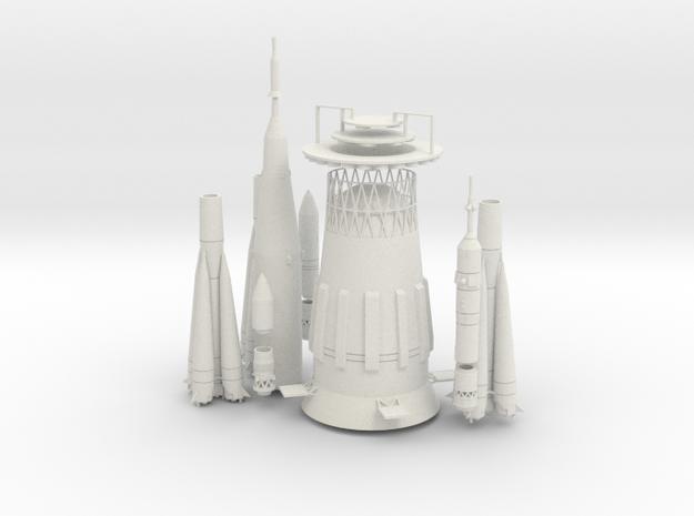 1/200 SOVIET MAN IN SPACE COMBO in White Natural Versatile Plastic