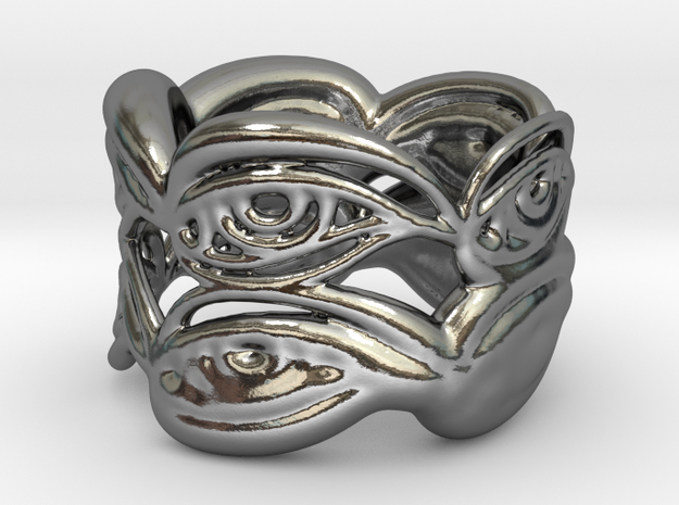 Eyering - a silver ring in Polished Silver