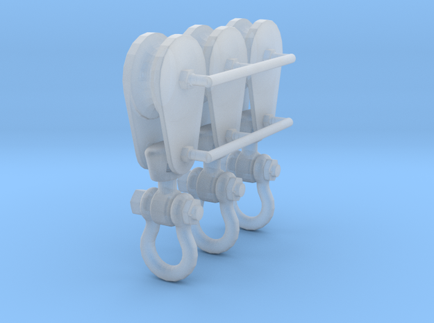 1-24_4in_pulley_clevis in Smooth Fine Detail Plastic