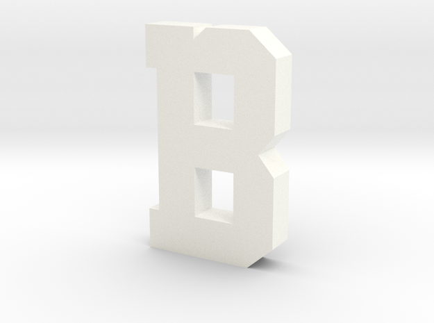 Decorative Letter B in White Processed Versatile Plastic