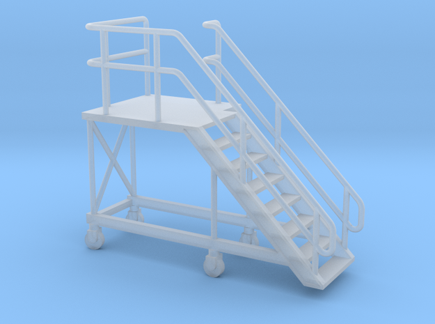 HO Train Access Stairs H20mm Right in Smooth Fine Detail Plastic