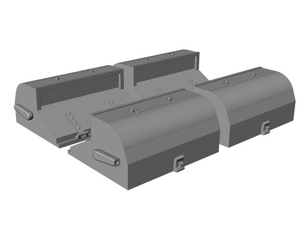 Posson Patent Refrigerated Rail Car Vents - HO in Smoothest Fine Detail Plastic