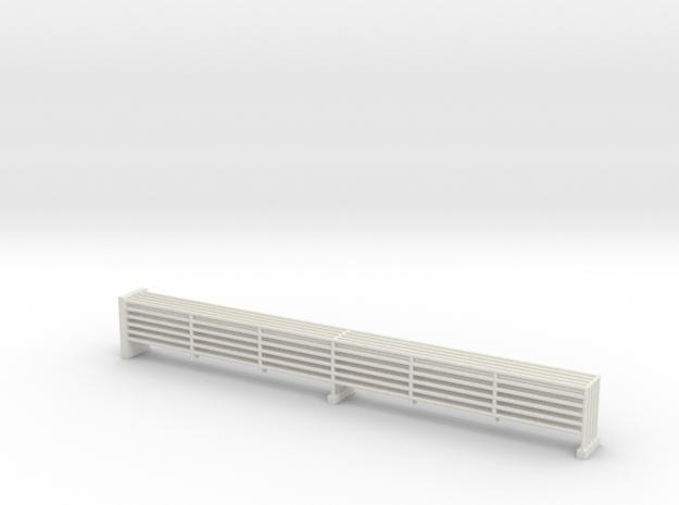 MOF Outside Upper 6 Bar Rails 72:1 Scale in White Natural Versatile Plastic