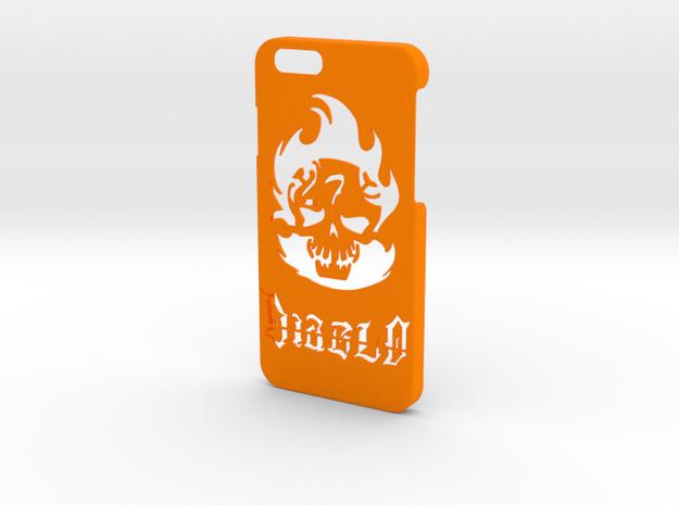 Diablo Phone Case- iPhone 6/6s in Orange Processed Versatile Plastic