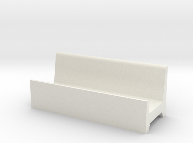 1/64 fence line feed bunk  in White Natural Versatile Plastic