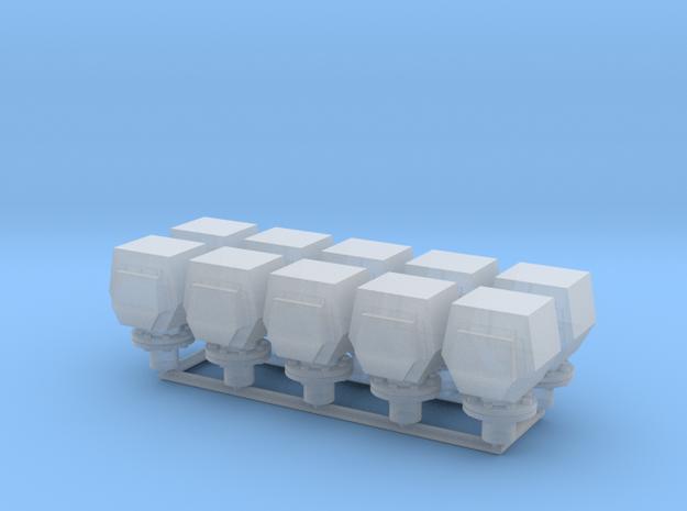 10 ventilation heads - 10 Lüfterköpfe_typ4, 1:50 in Smooth Fine Detail Plastic