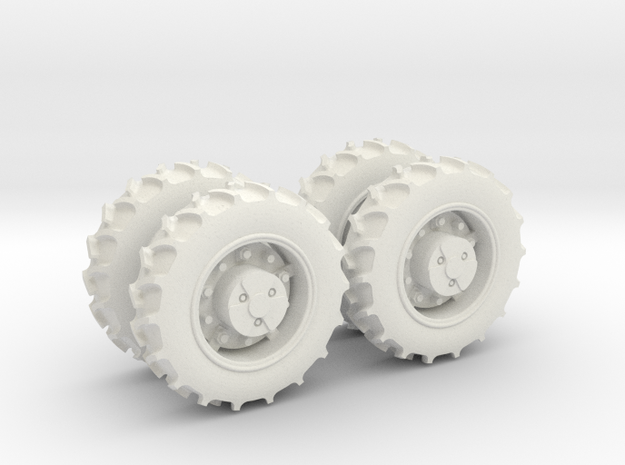 TRANSPORT TIRES - AMT BF10/SNAKEBITE in White Natural Versatile Plastic
