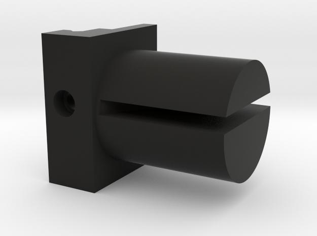 Shield Mount in Black Natural Versatile Plastic