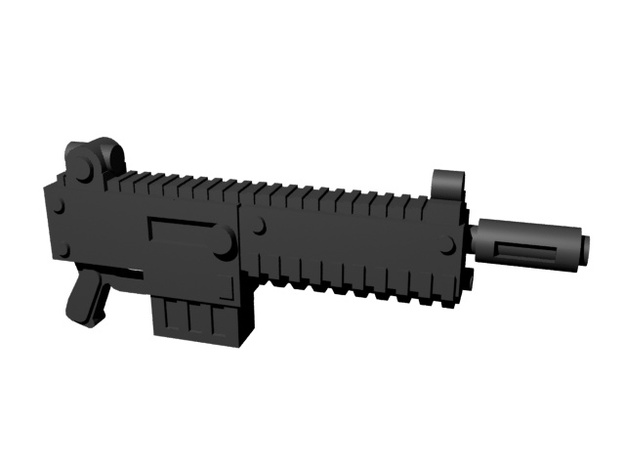 Automatic rifles 28mm x10 in Smoothest Fine Detail Plastic