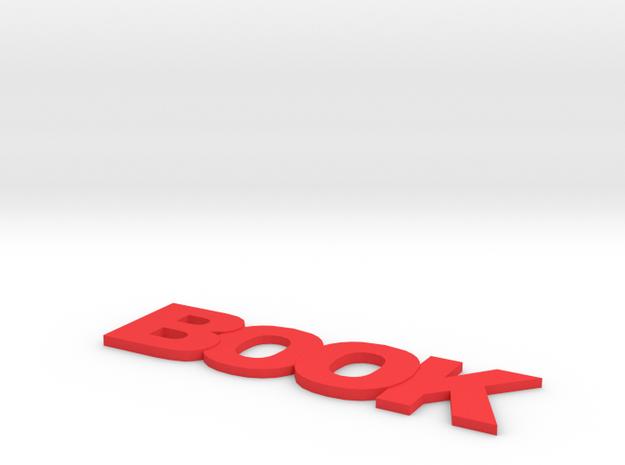Book Bookmark in Red Processed Versatile Plastic