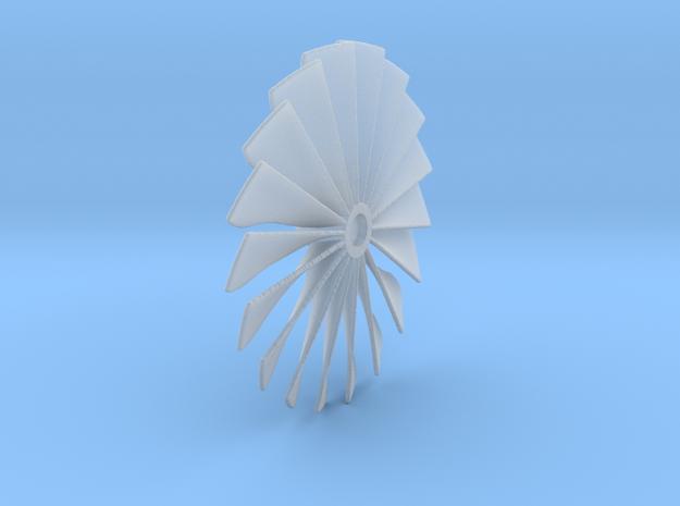 32 mm Diameter Custom Turbo Fan X1 in Smooth Fine Detail Plastic