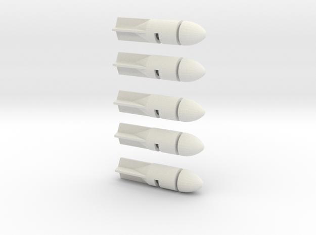 Dinky Toys - Stuka 5 bombs in White Natural Versatile Plastic