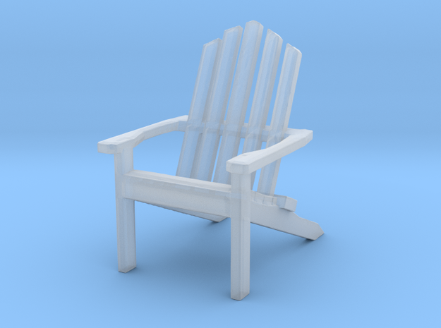 AdirondackChair - Tiny  in Smoothest Fine Detail Plastic