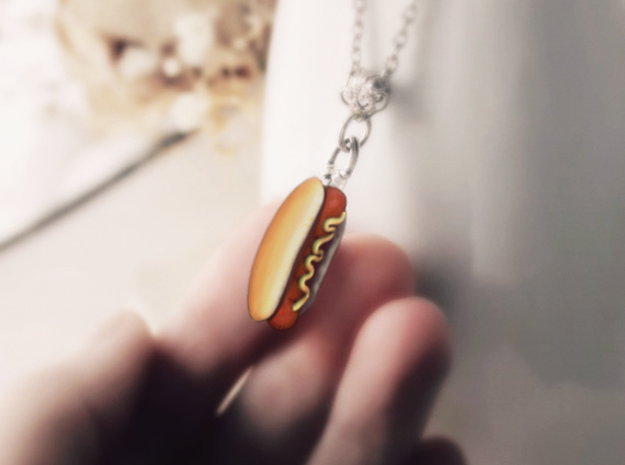 Hotdog Pendant in Full Color Sandstone