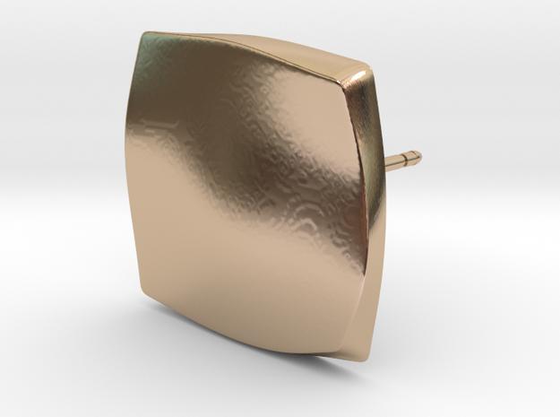LATTICE_SQ_stud_021 in 14k Rose Gold Plated Brass