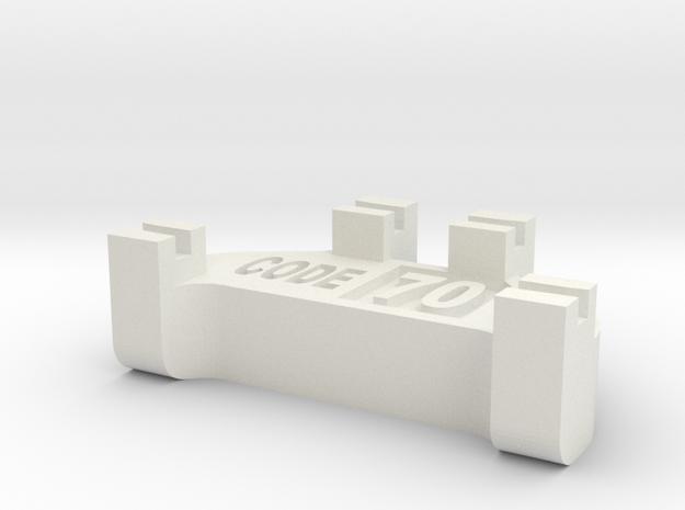 HOn2 Track Gauge - Code 70 in White Natural Versatile Plastic