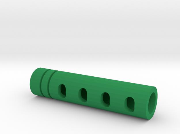 Super DMR Muzzle Tip (14mm Self-Cutting Thread) in Green Processed Versatile Plastic