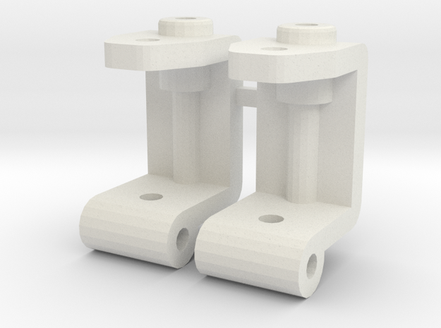 losi xxt and xxt cr spindle carrier  in White Natural Versatile Plastic