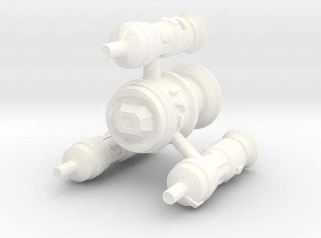Human Destroyer in White Processed Versatile Plastic